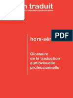 Glossaire de la Traduction Audiovisuelle professionnelle