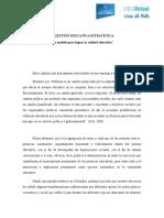 LA Gestion pedagogica