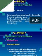 spesifikasi dan prosedur teknikal e-ppda