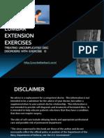 Lumbar Extension Exercises