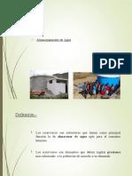 RESERVORIOS- abastecimiento de agua potable