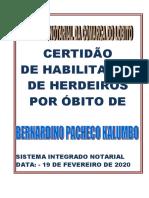 CAPA DE CERTIDÃO DE HABILITAÇÃO DE HERDEIRO - BERNARDINO KALUMBO.doc