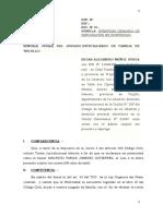 IMPUGNACION DE PATERNIDAD - DEMANDA