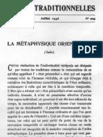 La métaphysique orientale2
