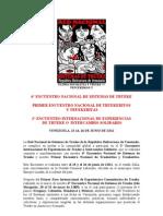 2° ENCUENTRO INTERNACIONAL DE EXPERIENCIAS  DE TRUEKE O  INTERCAMBIO SOLIDARIO