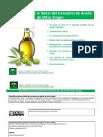 Beneficios para la Salud del Consumo de Aceite de Oliva Virgen II