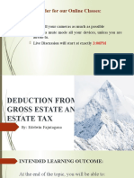 Module 2 DEDUCTION FROM GROSS ESTATE AND ESTATE TAX - Part 1