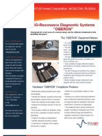 BIO-Resonance Diagnostic Systems OBERON_Flyer v2