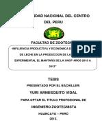 Influencia Productiva y Economica de Los Vacunos 2012