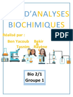 analyses physicochimiques