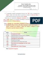 A.1.2 - A afirmação do expansionismo europeu - os impérios peninsulares - Ficha de Trabalho (2) - Soluções