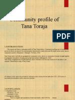 Community profile of Tana Toraja