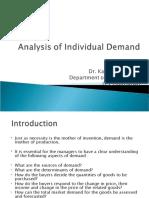 Analysis of Individual Demand