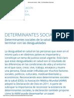 AMM (sf). Determinantes sociales de la salud para terminar con las desigualdades