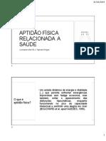 TRABALHO ESCRITO APTIDÃO FÍSICA