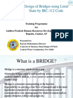 Design of Bridges using Limit State by IRC-112 Code