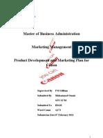 canon marketing strategy pdf