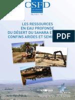 Les ressources en eau profonde du désert du Sahara et de ses confins arides et semi-arides