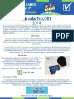 ICFES.  Pruebas 3, 5 y 9.  CIRCULAR 001 - 2014 (1)