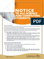NOTICE TO ALL SCIENCE AND COMPUTING STUDENTS2020+5+