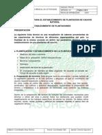 FICHA TECNICA PARA EL ESTABLECIMIENTO DE PLANTACION DE CAUCHO NATURAL