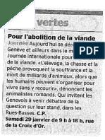Tribune de Genève - 29 Jan. 2011