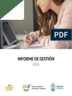 Informe de Gestion Dge 2020
