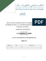 Note calcul CHAMBRE DE VANNES
