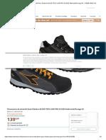Chaussures de sécurité Geox Diadora GLOVE TECH LOW PRO S3 ESD Anthracite_Orange 43 - 173528-C8321-43