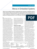 Hierarchical Menus in Embedded Systems