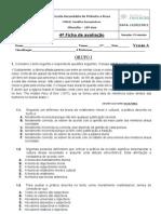 2010-11  10º ano,  4ª Ficha de avaliação_VA e VB_  e critérios de correcção