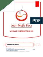 MÓDULO DE BROMATOLOGÍA
