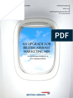 An Upgrade for British Airways' Marketing Mix - reviewing opportunities in an ever-changing industry