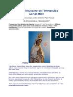 Grande Neuvaine de la Vierge Immaculée conception 2017