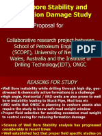 Wellbore Stability and Formation Damage Study