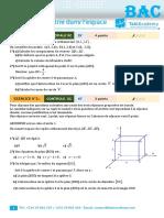 BAC 2008 (Geometrie dans l'espace) (1)
