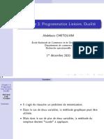 Chapitre 3_ Programmation Linéaire, Dualité