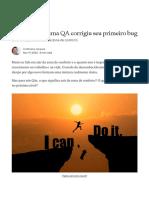 O dia em que uma QA corrigiu seu primeiro bug _ by Cristhiane Jacques _ Revista TSPI _ Nov, 2020 _ Medium