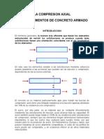 Comportamiento del concreto armado ante cargas axiales