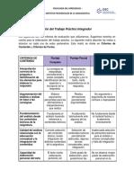 Rúbrica de corrección del Trabajo Práctico Integrador 2020