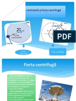 Forța centripetă și forța centrifugă