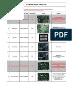 KT-6200 V2.0 Spare Parts List V5.0e