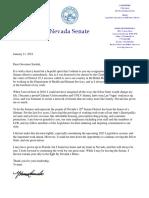 Sen. Cancela resignation letter
