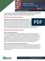 Covid-19 Vaccine Public FAQ