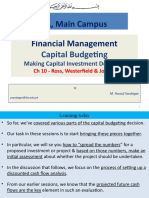 FM-Sessions 17-20 Capital Budgeting-Investment Decision Complete
