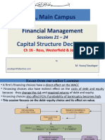 FM-Sessions 21 - 24 Capital Structure Decisions (Complete Lecture)