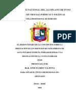 Tesis-el Desencuentro de La Concepción Sobre La Prestación de Los Servicios de Saneamiento de Agua Potable Entre El Poblador Rural y La Regulación de La Cuota Familiar