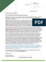 Carta y Declaración de No Residente Canadá 2021