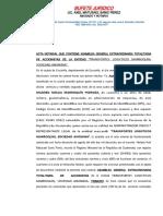 Acta Notarial de Asamblea General Extraordinaria Totalitaria de Accionistas - Aprobacion de Inventario