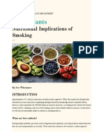 antioxidants for smokers education
